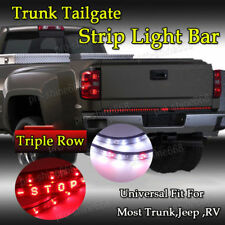 "60"" Triple Row LED Strip Truck Tailgate Reverse Brake Tail Turn Signal light Bar"