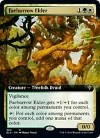 MTG Faeburrow Elder EXTENDED ART Throne of Eldraine RARE NM/M SKU#302