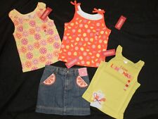 NWT Gymboree CITRUS COOLER Tank Top Shirt Skirt Skort 5 Hair Lot Orange Slice