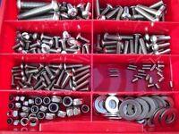 265 pièces Acier Inox Ensemble de vis Boîte vélo ISO 7380