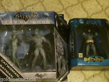 DC Universe Batman Arkham City Catwoman Batman 2011 & SDCC Batman 2004 Figure