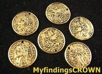 70 pcs Antiqued gold unique coin charms FC1468