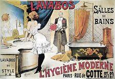 Art Poster Lavabos Salles De Bains Bathroom Ad  Print
