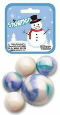 Mega Marble SNOWMAN MARBLE NET 24 Player Marbles & 1 Shooter Marble