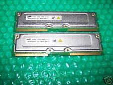 2x 256MB Samsung PC800-45 RIMM RAMBUS RDRAM ECC, TESTED