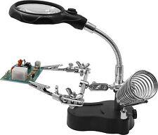 Helping Hand mit LED-Licht + Lupe + Batterien - Dritte Hand - (HH3) - NEU + OVP
