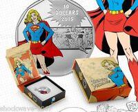 2015 Silver $10 SUPERGIRL Coin DC Comics Originals STRENGTH 3D Effect  SALE 10%