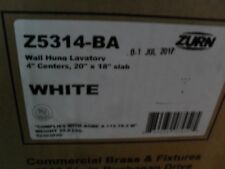 "Zurn Z5314-BA Wall hung bathroom lavatory 4CC 20"" x 18"" White"