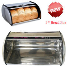 Stainless Steel Roll Top Bread Box Storage Bin Keeper Food Container KitchenEasy