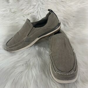 Margaritaville Marina Beige Canvas Casual Slip On Loafers Comfort Shoes Mens 9.5