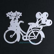 DIY Lovely Bike Metal Cutting Dies Stencil Scrapbooking Paper Card Maker Decor