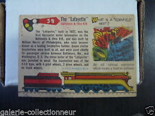 TRAING CARD 1955 Topps Rails and Sails   NO 58 LAFAYETTE BALTIMORE& OHIO   T10