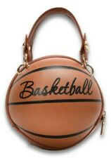 Black Letter Graphic Basketball Shaped Small Satchel Bag Handbag