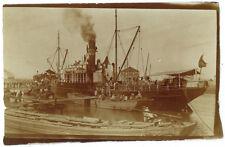 photo snapshot 1909 un steamer Japonnais en Quai de France - Bateau Diego-Suarez