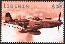 WWII North American P-51 MUSTANG Fighter Aircraft Stamp