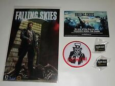 FALLING SKIES Promo Lot PATCH COMIC PIN Postcard SDCC 2014 Con EXCLUSIVE