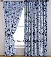 Indian Shibori Cotton Door Window Curtain Living Room Decor 2 Valances Dividers