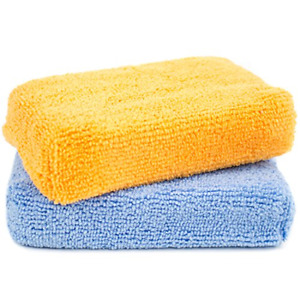 Zwipes Microfiber Kitchen and Bathroom Cleaning Sponges | Wash Dry Dust Polish |