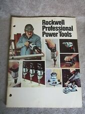 Vintage 1977 Rockwell Professional Power Tools Catalog AD-3300 9/77 12Y (17)