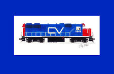 "Central Vermont GP38AC 11""x17"" Matted Print Andy Fletcher signed"