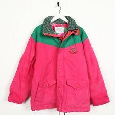 Vintage 90s AMERICAN SYSTEM Small Logo Padded Coat Jacket Pink | Medium M