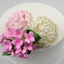 Pink Herbaceous Peony Sugar flower wedding birthday cake decoration topper