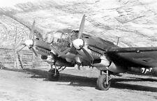 WWII B&W Photo German Luftwaffe He111 Under Camo Netting WW2 World War Two/ 6085