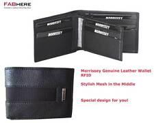 Morrissey Mens Black Genuine Italian Leather Bifold Wallet Brand New - MO10342