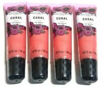 BATH AND BODY WORKS LIP GLOSS - CORAL - LOT OF 4 - SEALED - NEW
