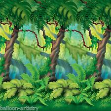 Jungle Wild Fun Animals Party Scene Setter Room Roll Backdrop Decoration TREES