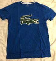 Lacoste Classic Croc Graphic Print T Shirt - Blue - Small Medium Large & XL
