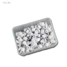 100 Pinces À Ongles blanc, pour câble max Ø4mm, Nagelclip Serre-câble