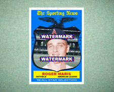 Roger Maris All Star Kansas City Athletics A's 1959 Style Custom Art Card