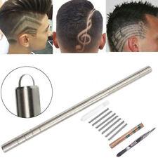 1Set Stainless Hair Eyebrow Beard Shaving Razor Pen Barber Engraved Pen + Blades