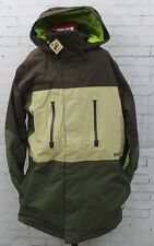 New 2016 Burton Mens Breach Snowboard Jacket Large Mocha Block