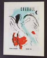 Marc Chagall The Angel Kunsthalle Bern Mourlot Poster offset Lithograph 1975