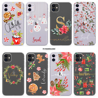 PERSONALISED PHONE CASE XMAS COVER NAME  SILICONE FOR APPLE IPHONE 11 PRO SE X