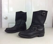 MOTORCYCLE Boots Leather Buckle Men's 8