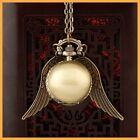 Harry Potter Snitch Watch Necklace Steampunk Quidditch Pocket Clock Pendant ZI