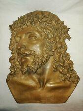Cristo in bronzo in altorilievo del '900 cm 30x24 Antikidea