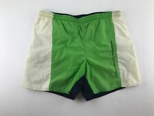 Vintage 90s Nautica Competition Men Medium M Spell Out Swim Trunk Shorts O3