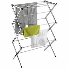 Honey-Can-Do Commercial Chrome Accordion Drying Rack, 24' W