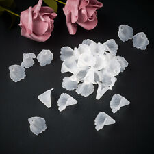 100pcs Frosted Acrylic Flower Beads Clear Transparent Matte Loos Bead Caps 20mm