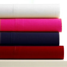 Drap plat 2 personnes  en microfibre - rose vif - 135 x 190 cm