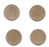 4 PIECES DE 10 CENTIMES FRANCAISE ANNEES 70