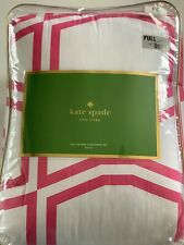 Kate Spade 3-Pc Full/Queen Bow Tile Comforter Set Brand New Pink Coral White