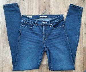 Ladies Levis 311 Shaping Skinny Jeans size  10 - 12 Waist 29 leg 32 Levi blue