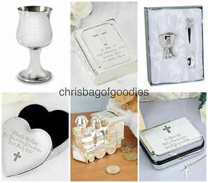 PERSONALISED BAPTISM HOLY COMMUNION CONFIRMATION Gifts For GIRLS BOYS PRESENTS