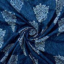 Block Blau Baumwolle Batist Stoff Nähen Kissenbezug Nähen Kleid By The Metre