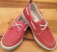 Gymboree Boys Size 11 Denim Red & White Boat Shoes. Denim Red Walking Shoes. Nwt